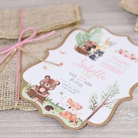 51. Convite de aniversário infantil – Foto: Cute Designs