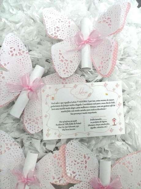 2. Convite de aniversário infantil borboletas – Foto: Elo7