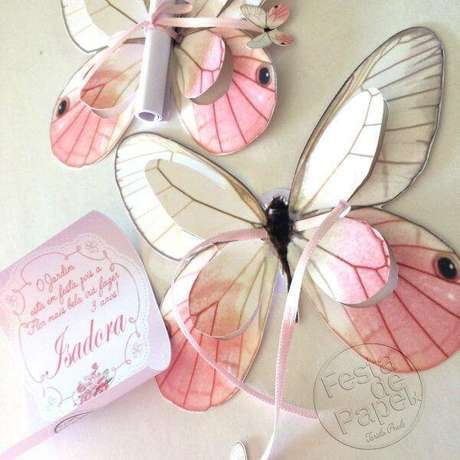 54. Convite de aniversário infantil borboletas – Foto: Pinterest