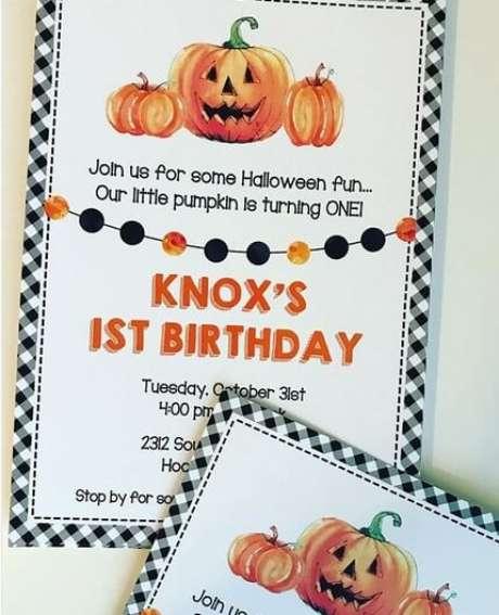 57. Convite de aniversário infantil halloween – Foto: Festas