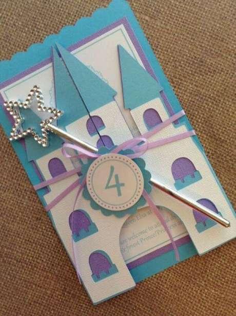 12. Convite de aniversário infantil e criativo de castelo – Foto: Pinterest