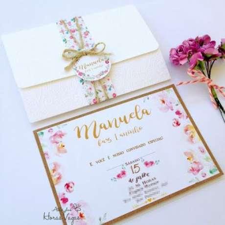 16. Convite de aniversário infantil floral – Foto: Ateliê das Horas Vagas