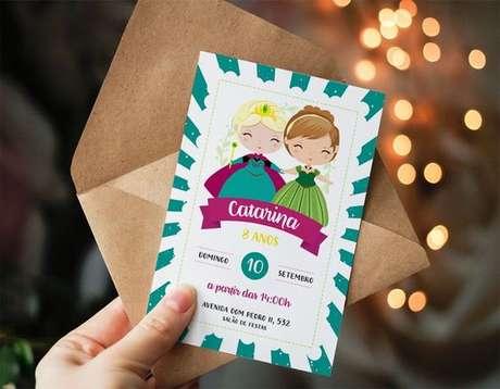 24. Convite de aniversário infantil Frozen – Foto: Pinterest