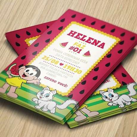 30. Convite para festa com tema Magali – Foto: Festas. Site