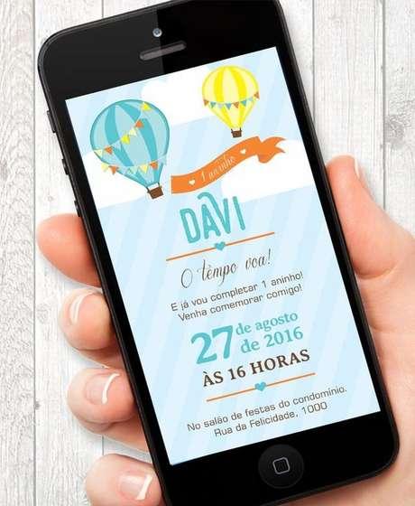 38. Convite de aniversário infantil e virtual – Foto: Joy in the box