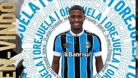 Orejuela acerta com o Grêmio