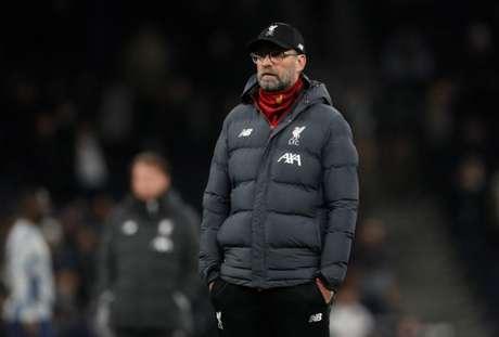 Técnico do Liverpool, Juergen Klopp, durante partida contra o Tottenham pelo Campeonato Inglês 11/01/2020 Action Images via Reuters/Matthew Childs