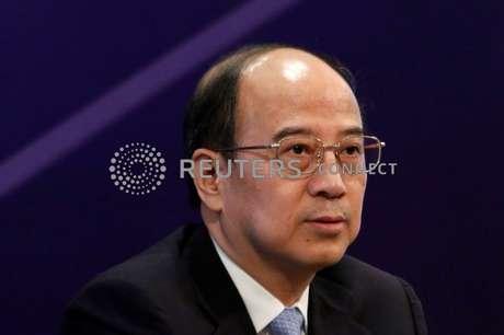 Vice-presidente e presidente da Sinopec Corp, da China, Dai Houliang, participa de coletiva de imprensa em Hong Kong, China 26/03/2018 REUTERS/Bobby Yip