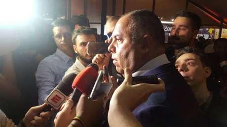 Marcos Braz mostrou otimismo quanto a chegadas de Thiago Maia e Pedro (Foto: Vinícius Faustini)
