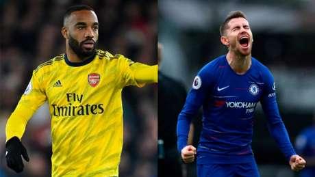 Lacazette e Jorginho são os destaques de Arsenal e Chelsea (Fotos: Reprodução)