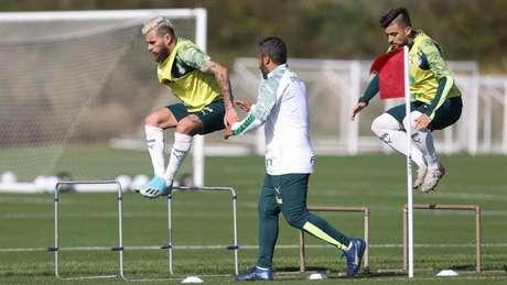 Lucas Lima durante treino do Palmeiras, nos Estados Unidos (Foto: Cesar Greco)