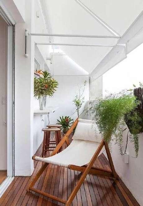 16. Cadeira para varanda pequena – Foto: Decoração de Casa