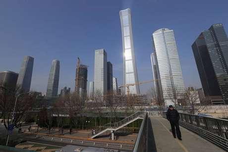 Prédios em distrito comercial de Pequim, na China