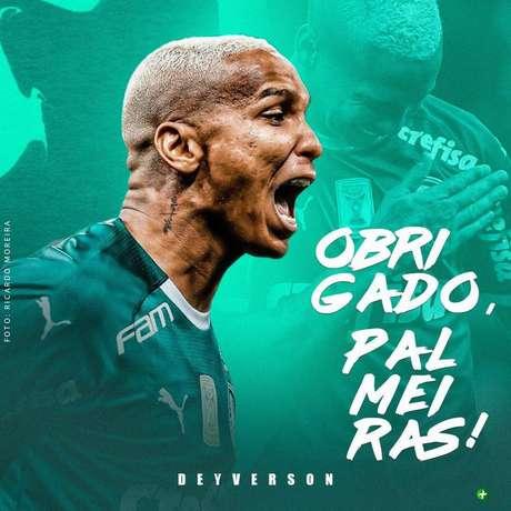 Deyverson dá adeus ao Palmeiras (Foto: Reprodução/Instagram)