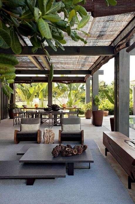 38. Jogo de cadeiras modernas para varanda de casa de campo – Foto: Style State