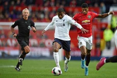 United foi o único clube a tirar pontos do Liverpool (Foto: AFP)