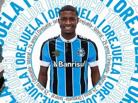 Orejuela foi anunciado como terceiro reforço do Grêmio para 2020 (Foto: Reprodução/Grêmio)