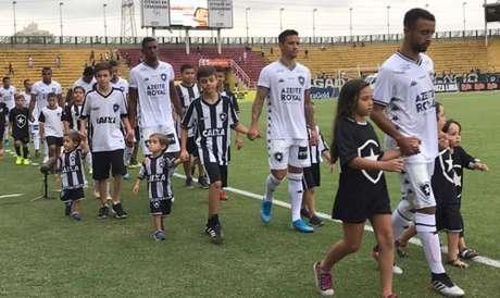 Jogadores do Botafogo no Raulino de Oliveira (Foto: Divulgação/Botafogo)