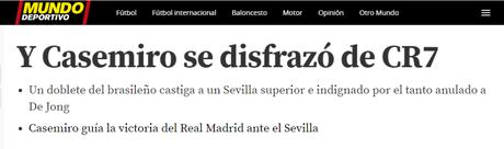 Casemiro foi comparado a Cristiano Ronaldo (Foto: Reprodução)