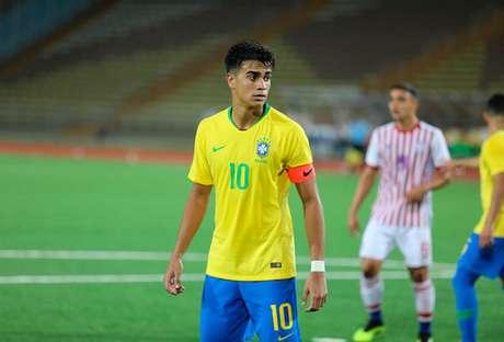 Reinier em ação pelo Sul-Americano do ano passado: meia foi o destaque do Brasil (Foto: Marcos Paulo Rebelo/CBF)