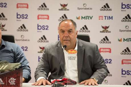 Marcos Braz, nome forte do futebol do Flamengo, previu semana agitada no Ninho (Foto: Alexandre Vidal/Flamengo)