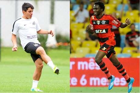 Lucas Otávio, ex-jogador do Santos, e Negueba, ex-jogador do Flamengo