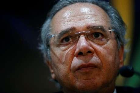 Ministro da Economia, Paulo Guedes, participa de entrevista coletiva em Brasília 05/11/2019 REUTERS/Adriano Machado