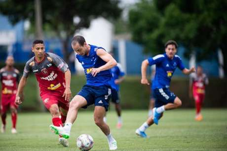 O time celeste terá muitas mudanças, mas Rodriguinho deve começar jogando diante do Boa- (Bruno Hadadd/Cruzeiro)