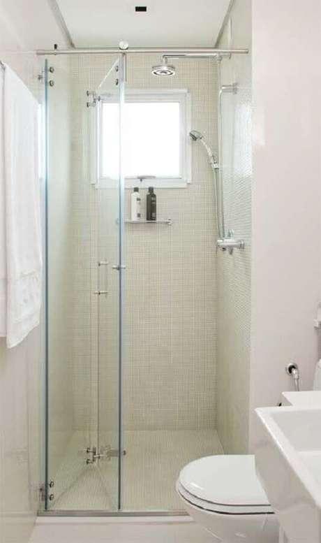 34. Decoração simples para banheiro pequeno de apartamento – Foto: Arquitrecos