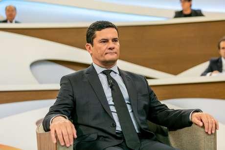 O ministro da Justiça e Segurança Pública, Sérgio Moro, em noite de participação no programa Roda Viva, da TV Cultura