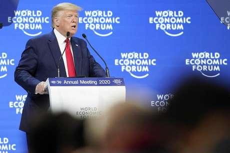 Trump discursa no Fórum Econômico Mundial de Davos, na Suíça