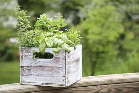 58. Transforme caixotes em lindas floreiras de madeira. Fonte: Istock