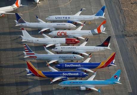 Aeronaves Boeing 737 MAX no aeroporto Grant County International em Moses Lake, Washington, 16/09/2019. REUTERS/Lindsey Wasson/Foto de arquivo