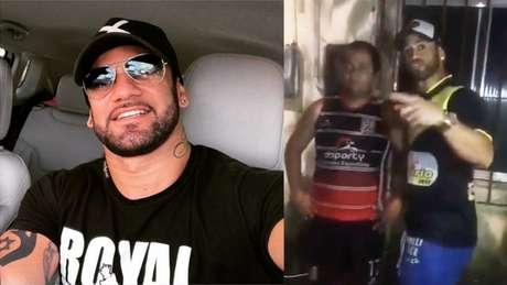 Hadson aparece em vídeo intimidando torcedor (Foto: Reprodução Instagram / Twitter)