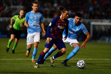 Griezmann foi o responsável pela classificação do clube culé (Foto: Twitter / Barcelona)