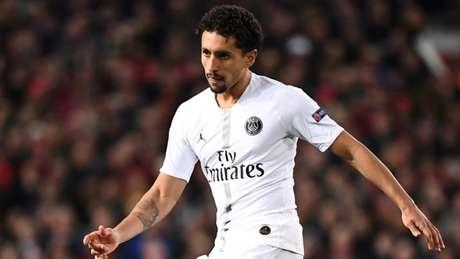 Marquinhos em ação pelo Paris Saint-Germain: zagueiro atuou em 25 jogos na temporada (Foto: FRANCK FIFE / AFP)