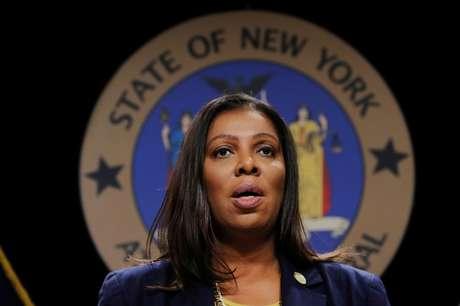 Procuradora Letitia James durante evento em Nova York 19/11/2019  REUTERS/Lucas Jackson