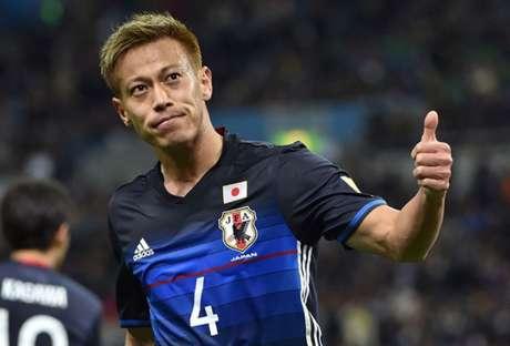 Honda é um dos grandes nomes da história da seleção japonesa (Foto: JIJI PRESS/AFP/)