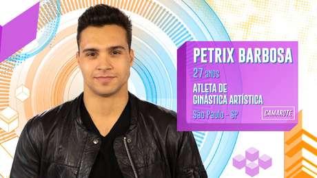 Petrix Barbosa - Petrix Barbosa é atleta profissional de ginástica artística e, aos 27 anos, se divide entre Miami e Lisboa devido aostreinos do esporte. Ele participou dos Jogos Olímpicos do Brasil, em 2016.