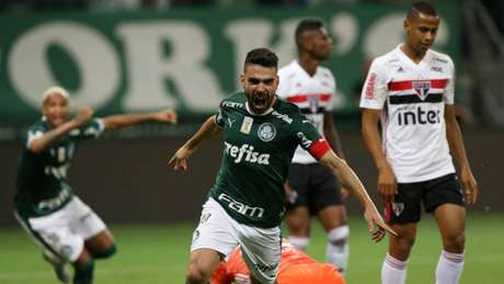 No último Choque-Rei, Palmeiras fez 3 a 0, em 30/11/2019, no Allianz, pelo Brasileiro (Cesar Greco/Agência Palmeiras)