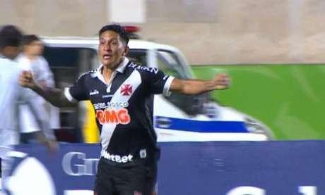 Cano comemora primeiro gol pelo Vasco - (Foto: Reprodução/Premiere)