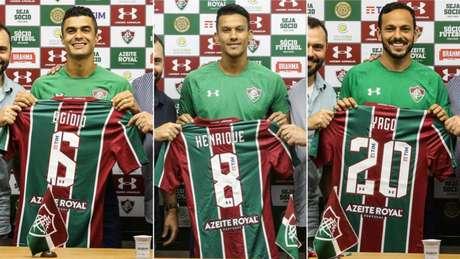 Egídio, Henrique e Yago estão prontos para estrear (Foto: Lucas Merçon/Fluminense)