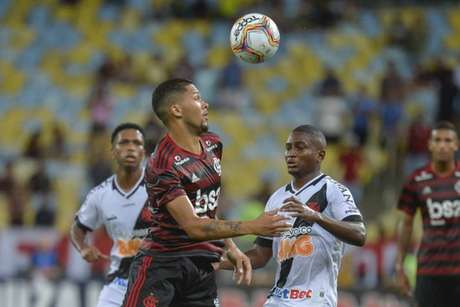 Vitor Gabriel iniciou entre os 11 contra o Vasco, pela 2ª rodada (Foto: Marcelo Cortes/ Flamengo)