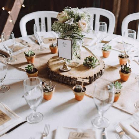2. As suculentas são ótimas opções para a lembrancinha de mesa para casamento – Foto: Pinterest