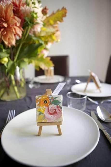 47. Lembrancinhas de mesa para casamento criativa – Foto: Struture Produções