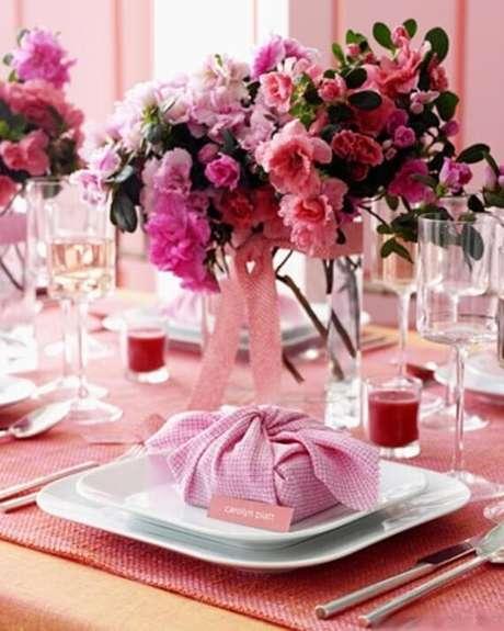 51. Lembrancinha de mesa para festa de aniversário em tons de rosa – Foto: Pinterest