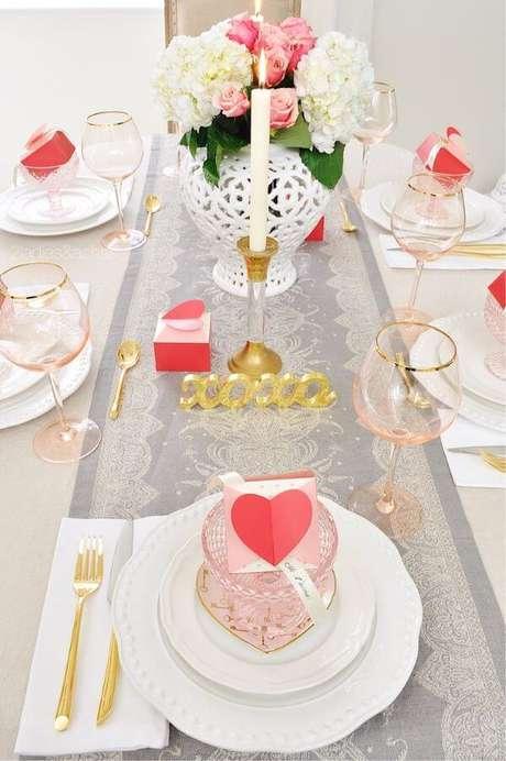 52. Lembrancinha de mesa para festa de casamento com detalhes em rose gold – Via: Pinterest