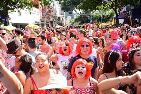 Bloco Ritaleena, na Rua dos Pinheiros, em São Paulo (SP), no Carnaval de 2019 (23/02/2019)