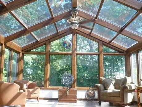 14. Casa de campo com cobertura de vidro – Fonte: Motta Envidraçamento