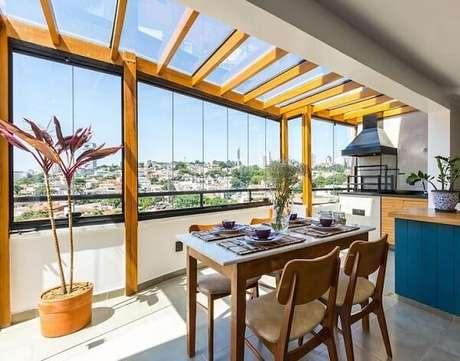 30. Cobertura de vidro para varanda integrada – Fonte: Pinterest